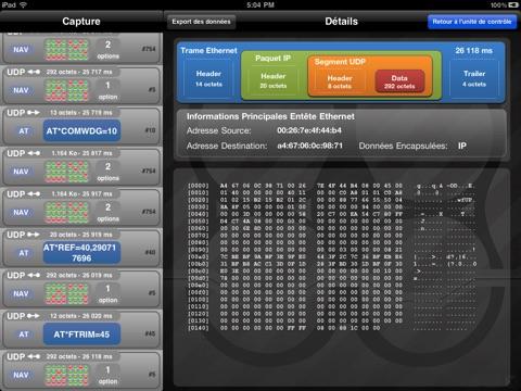 Screenshot #5 pour Système à Enseigner ARDrone: Analyser la communication