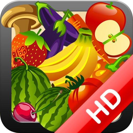 Retina HD Fruit and Veggie Memory Match