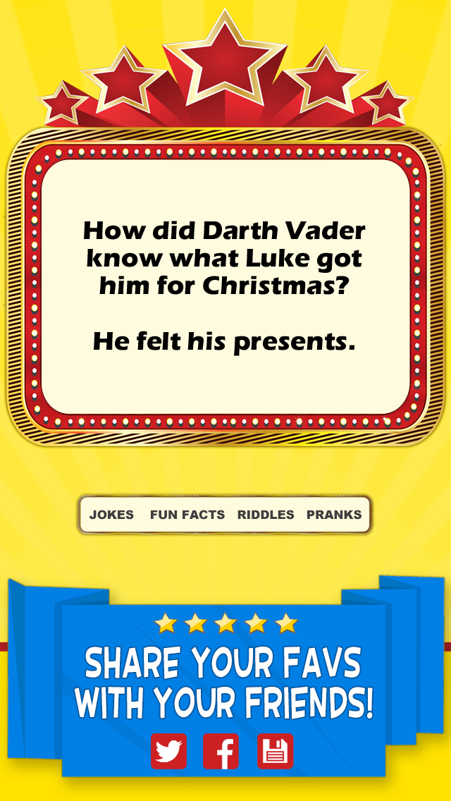Cool Funny Jokes - Hilarious One Line Gags and Really Short Puns Screenshot on iOS