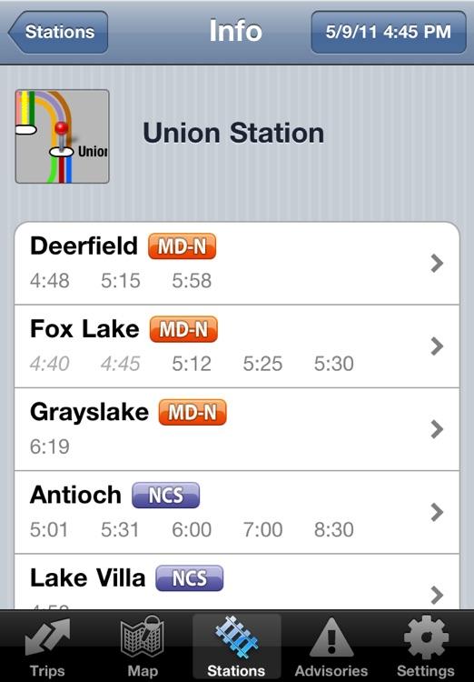 iTrans Chicago Metra screenshot-3