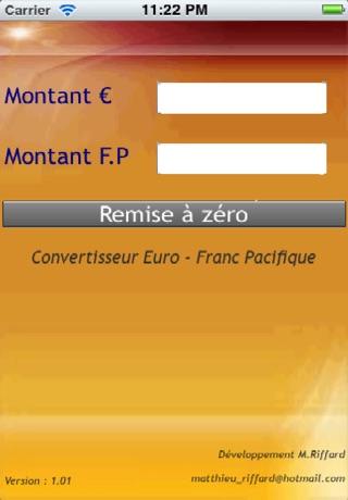 Telecharger Convert Euro Franc Pacifique Pour Iphone Sur L App
