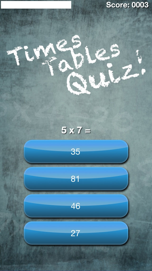 Times Tables Quiz! (Multiplication Trainer) Screenshot