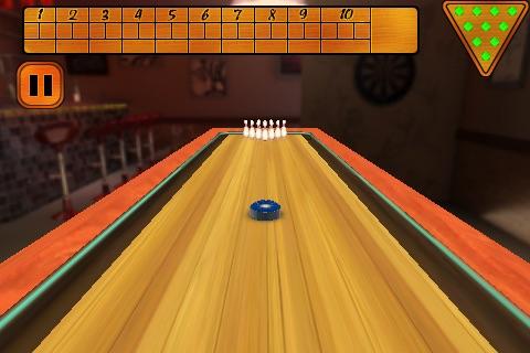 3D Shuffle Board Bowling