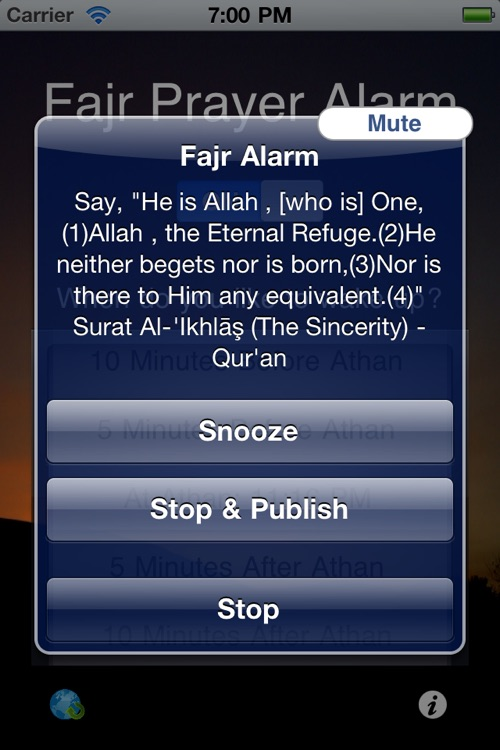 "منبه صلاة الفجر Fajr Alarm - Year round Dawn time calculator and muslim prayer clock for the ""four seasons"" screenshot-3"