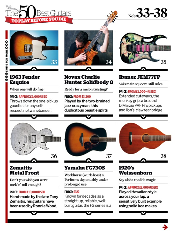 The 50 Best Guitars To Play Before You Die by Guitarist screenshot-3