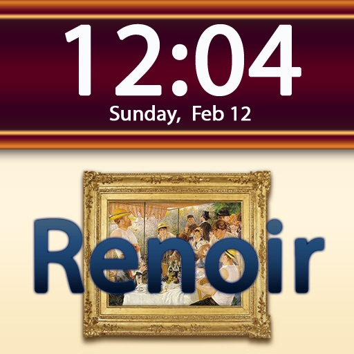 Clockscapes Pierre-Auguste Renoir - Animated Clock Display