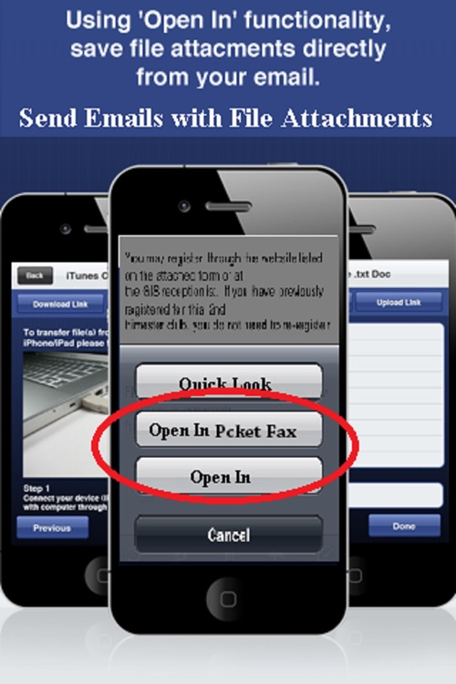 Pocket Fax (Download Documents from anywhere and send fax through your iPhone or iPad) screenshot-3