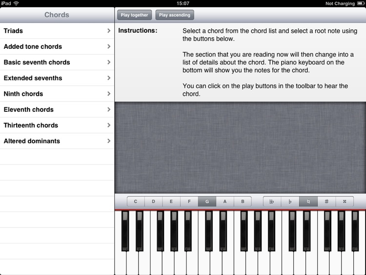 ChordFinder for iPad