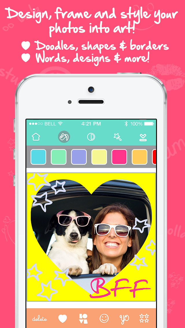 #Love Cam – DIY lovely photos with girly doodles for pink