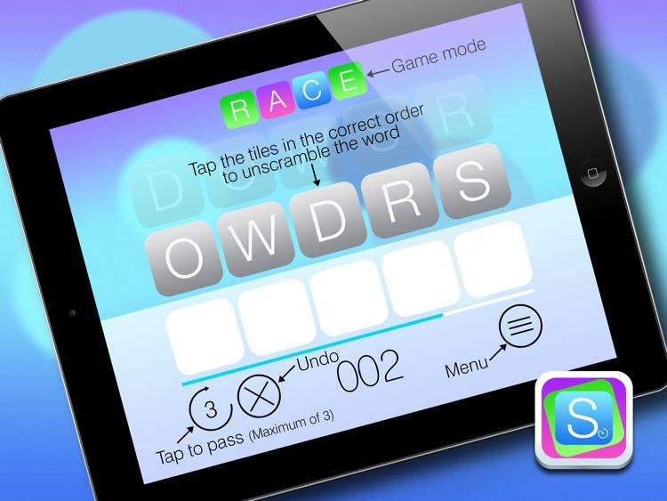 Scramble HD FREE - Unscramble the words and beat the clock screenshot-4