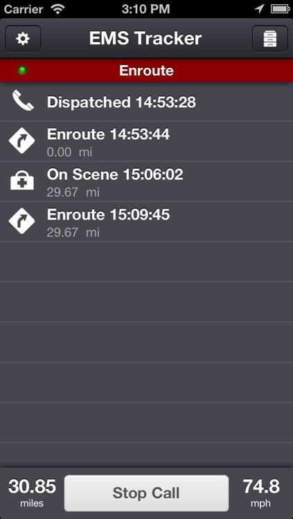 EMS Tracker - EMT, Fire and Ambulance GPS Log