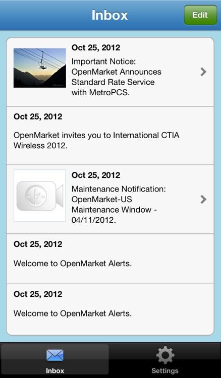 OpenMarket Alerts
