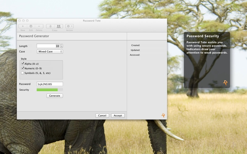 点击获取Password Tote for Mac OS X