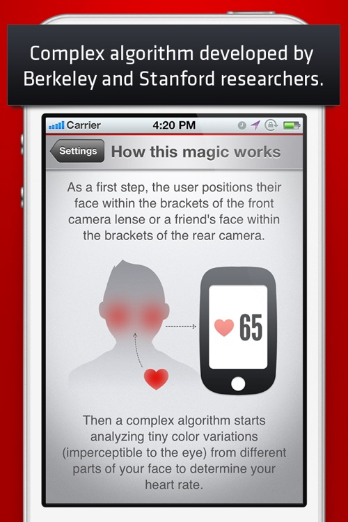 Cardio Buddy Free - Touchless Camera Heart Rate Monitor by Azumio screenshot-3