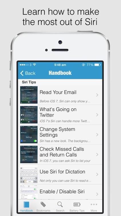 Secret Handbook for iOS 7 - Tips & Tricks Guide for iPhone screenshot-3