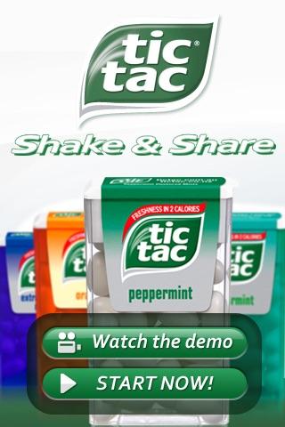 Tic Tac® Shake & ShareScreenshot von 1