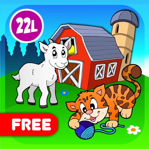Amazing Farm Baby Animals Puzzle game for Toddlers to Kindergarten