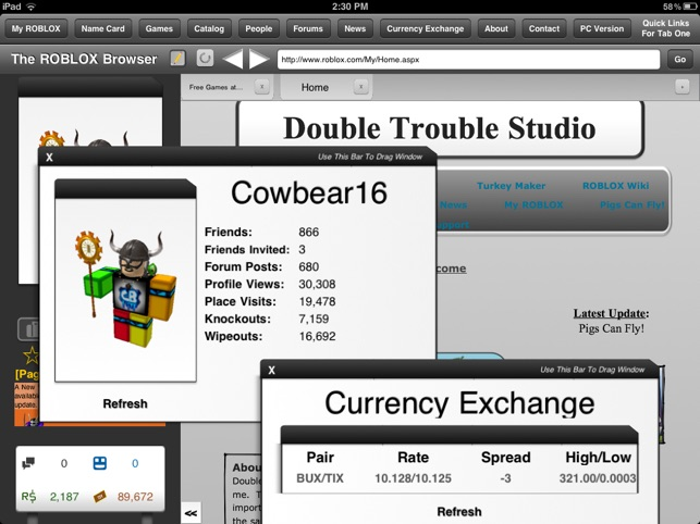 The Browser For Roblox - gui designer for roblox by double trouble studio