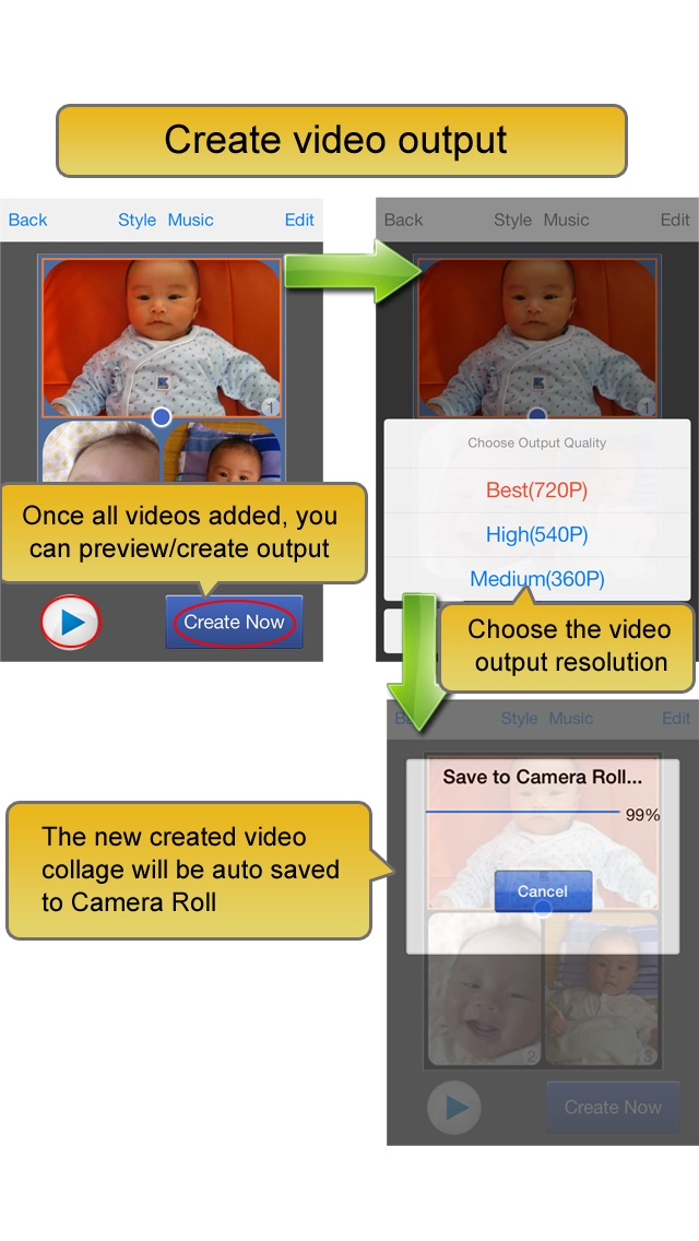 Screenshot #10 for Video Album - Frame Video, Join Video, Crop Video, Rotate Video