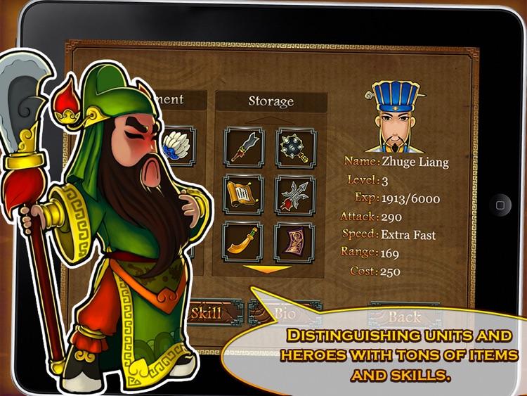 Three Kingdoms TD - Legend of Shu HD Free screenshot-3