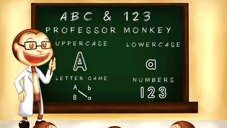 ABC & 123 Monkey Professor Lite - Learn to Write Letters and Numbers for Kids, Hear Letters Pronounced