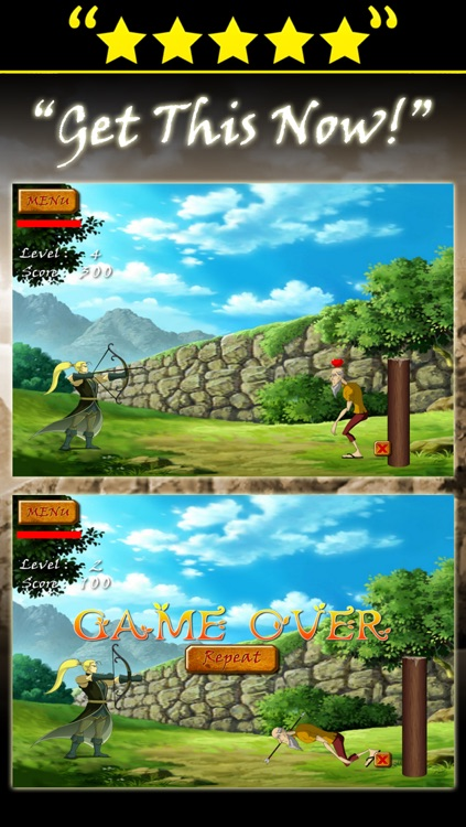 shoot the apple bow and arrow archery game