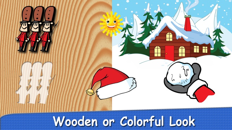 Christmas Puzzle for Babies Free: Move Winter Cartoon Images and Listen Sounds of Animals or Tools with Best Jigsaw Game and Top Fun for Kids, Toddlers and Preschool screenshot-3