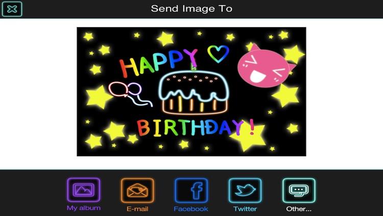 Draw Everything! GLOW Note Free! screenshot-3