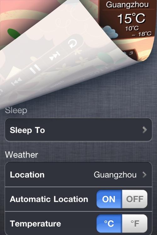 AirWave Sleep  — Alarm Sleep Clock + Music player + 10 day Weather Forecast screenshot-4
