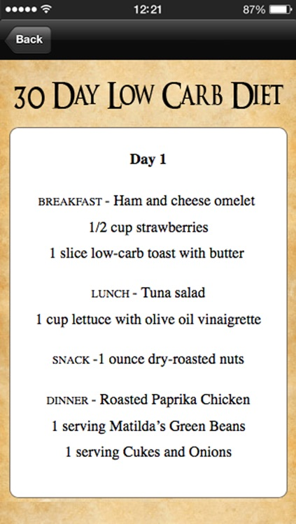30 Day Low Carb Diet Meal Plan