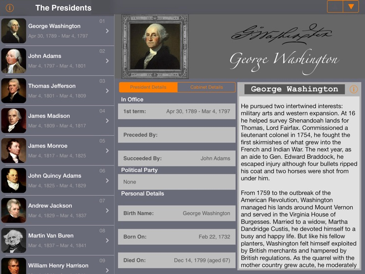 US Presidents (American President Life History) screenshot-0