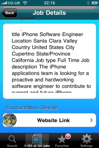 Screenshot of JobFinder