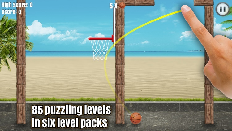 Through the Hoop - Basketball Physics Puzzler screenshot-4