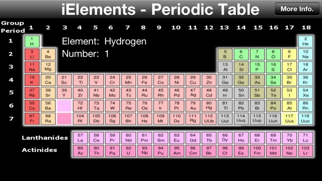 Ielements periodic table of the chemical elements on the app store iphone screenshots urtaz Choice Image