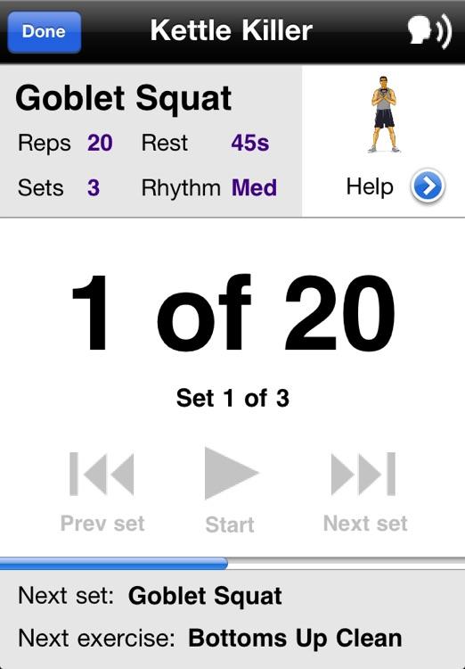 Kettlebell Workouts Free screenshot-3