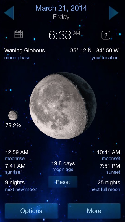 It's A Better Clock - Weather forecaster and Lunar Phase calendar