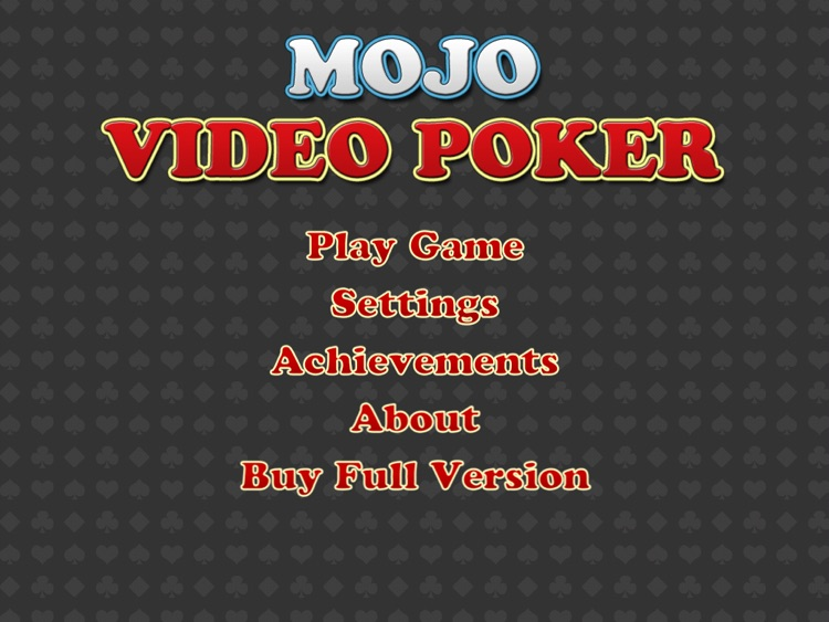 Mojo Video Poker HD screenshot-4