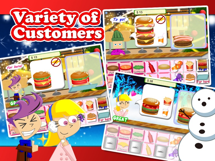 Christmas Yummy Burger Maker Game Free screenshot-1