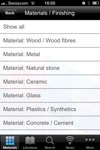 Materials Council screenshot two