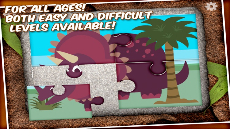 Dinosaur Jigsaw Puzzle - a game for kids with cool dinosaurs