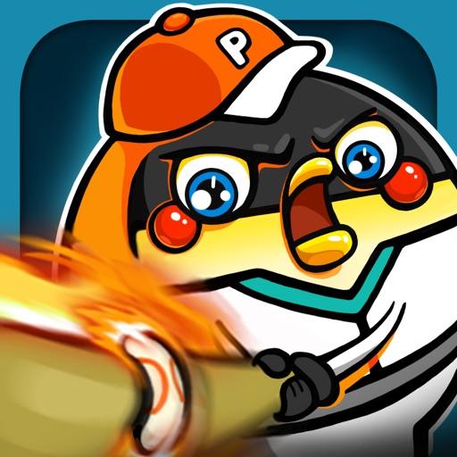 Home Run Hitters - Penguin Rush! Flick Baseball