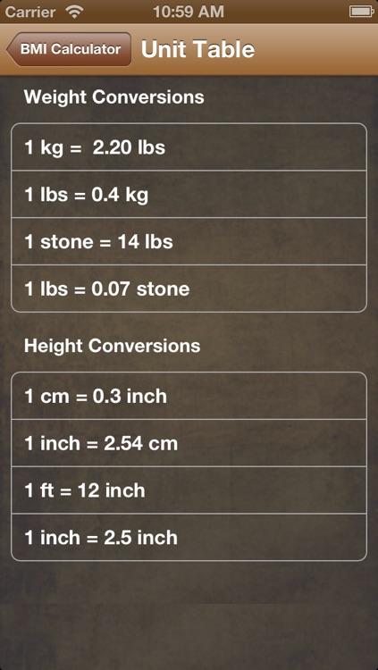 BMI Calc Free screenshot-3