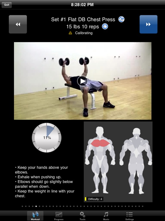 iPersonalTrainer HD screenshot-1