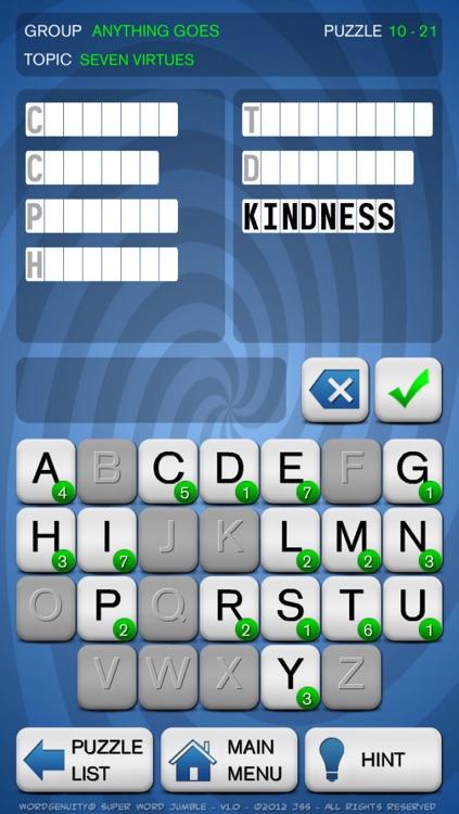 Wordgenuity Super Word Jumble screenshot-3