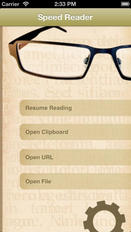 Speed Reader - Speed Reading Application