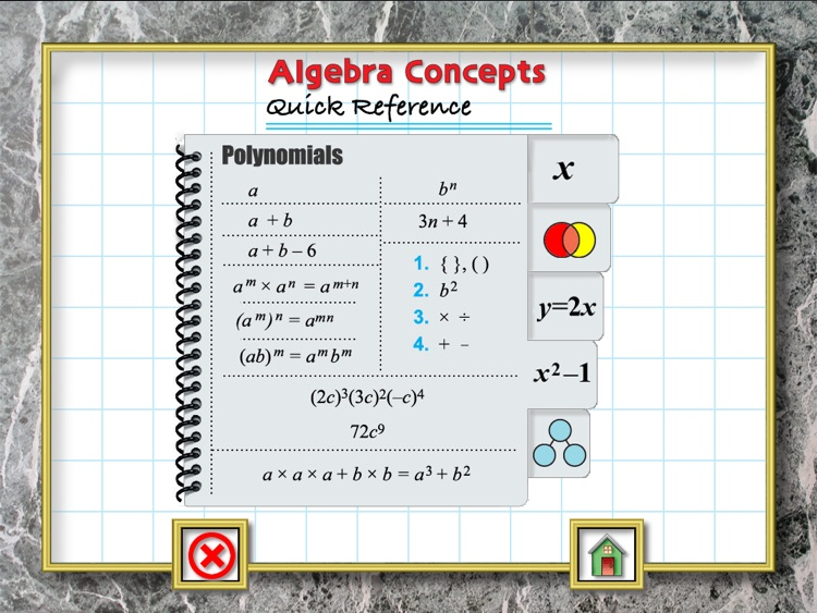 Algebra Concepts for iPad screenshot-4