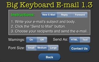 Big Keyboard Email Screenshot on iOS