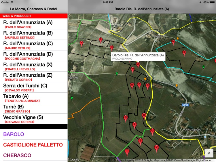 La Morra, Cherasco, Roddi & Verduno Wine Map screenshot-3