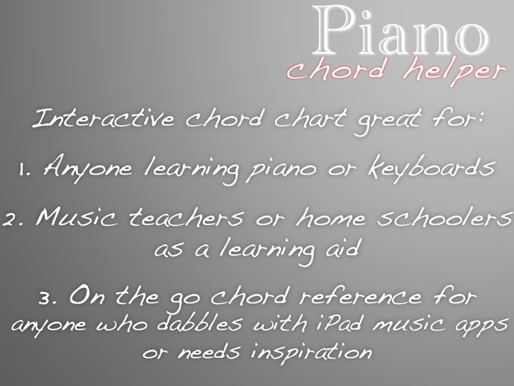 Piano Chord Helper screenshot-4