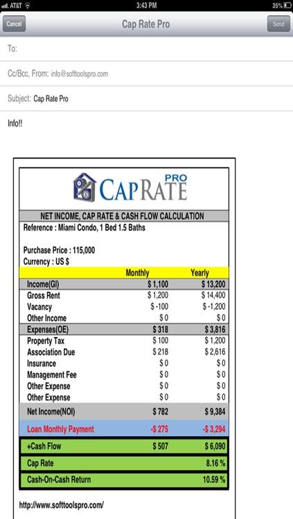 CAP RATE PRO screenshot-3